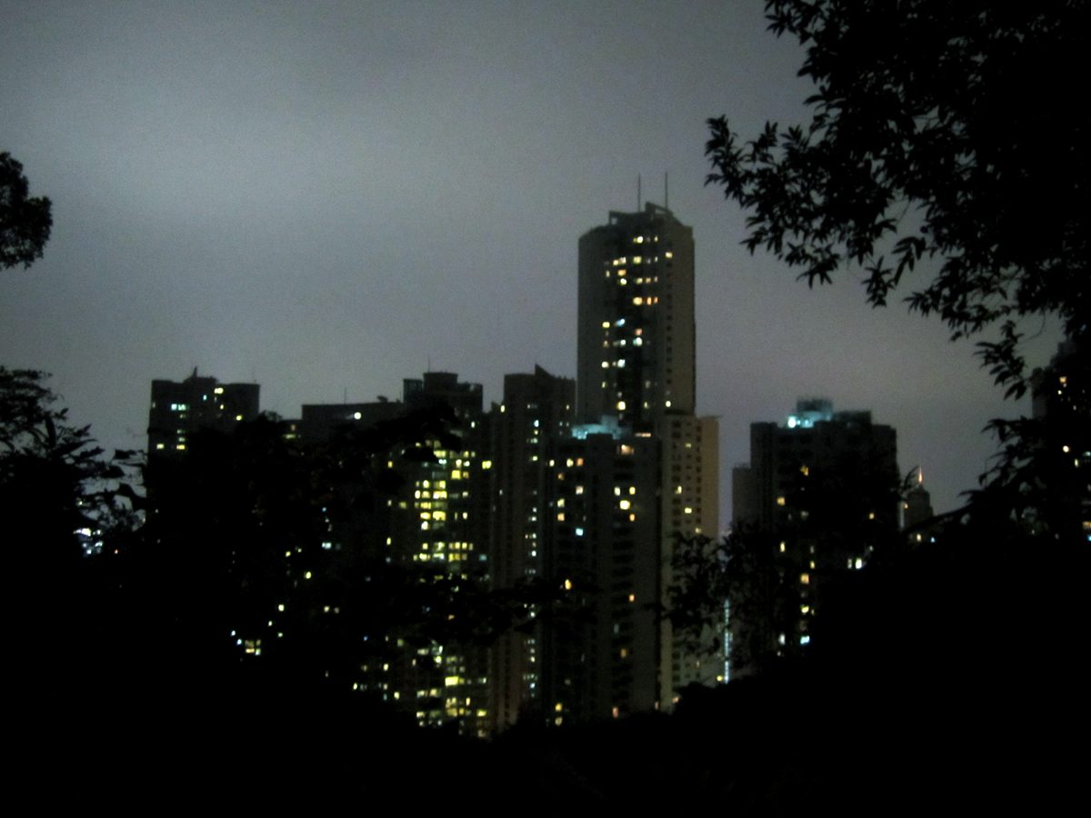 Wan Chai Skyline in Hong Kong